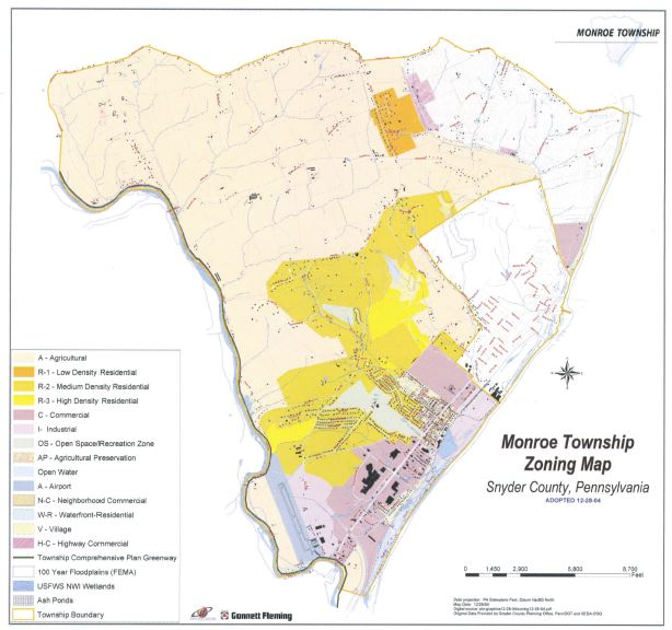 monroe township zoning map
